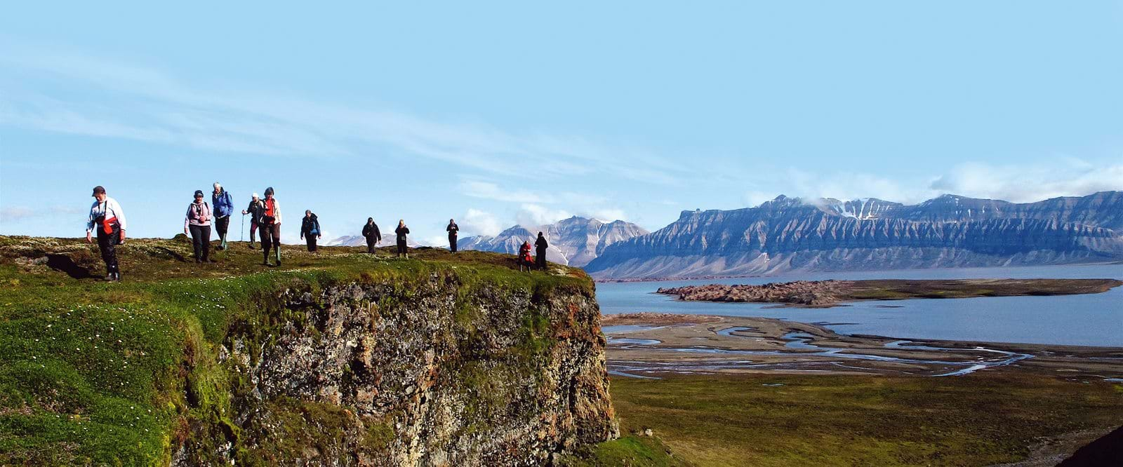 Hiking on Svalbard
