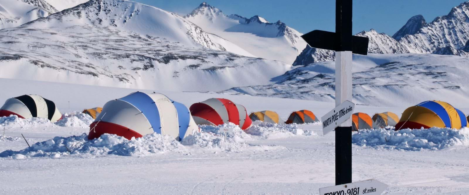 Union glacier camp, antartica